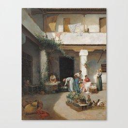 Manuel Wssel de Guimbarda,  Rosquilla Sellers in a Corner of Seville 1881 Canvas Print