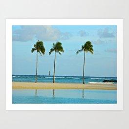 Beach Breeze Art Print
