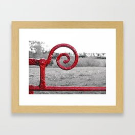 Gate Latch Framed Art Print