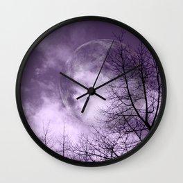Purple Night  - JUSTART © Wall Clock