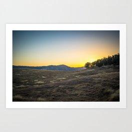 Sunset at Tuttletown Art Print