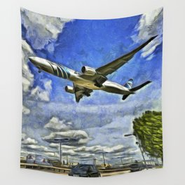 Airliner Vincent Van Gogh Wall Tapestry