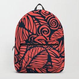 Summer leaves, pink Backpack