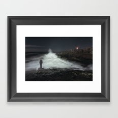 Search The Sea Framed Art Print