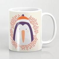 penguin Mugs featuring penguin by Taranta Babu