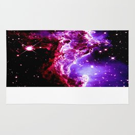 Pink Purple Monkey Head Nebula Galaxy Space Rug
