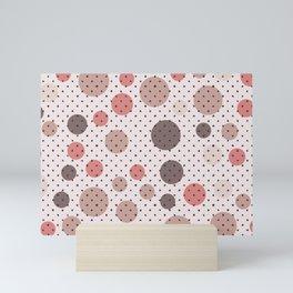 Scandinavian dots and points pattern design Mini Art Print