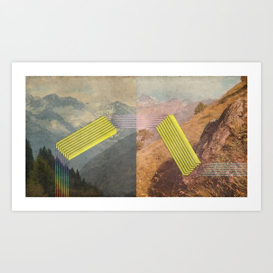 RAIN BOW MOUNTAINS Art Print