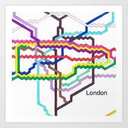 London Underground Square Art Print