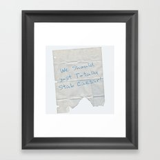 We Should Just Totally Stab Caesar! quote from the movie Mean Girls Framed Art Print
