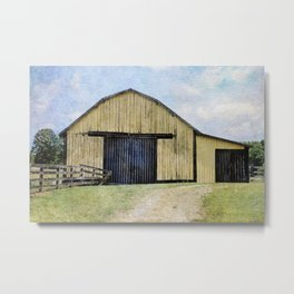 Yellow Barn Metal Print