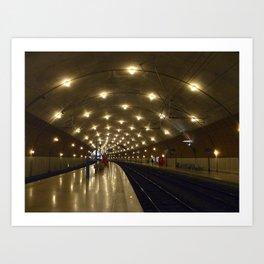Monaco Train Station Art Print