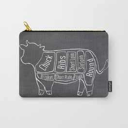 Beef Butcher Diagram (Cow Meat Chart) Carry-All Pouch