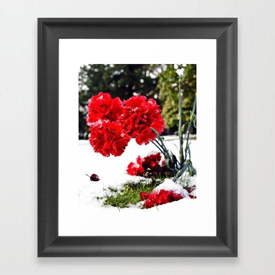 Frost flowers Framed Art Print