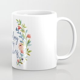 You Belong Among the Wildflowers, Burnt Orange and Blue Coffee Mug
