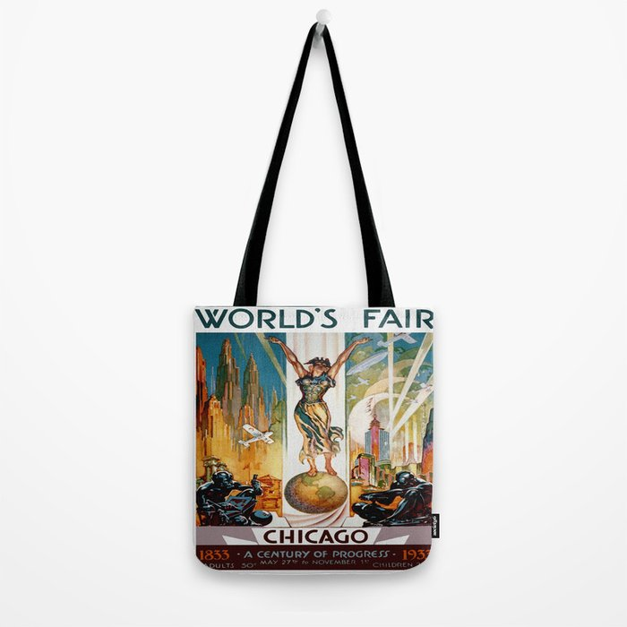 Vintage World's Fair Chicago IL 1933 Tote Bag