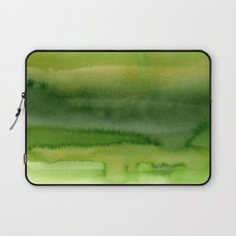 Spring Greens Abstract Watercolor Horizontal Pattern Laptop Sleeve