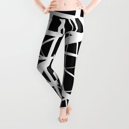 Entrapment - Black and white Abstract Leggings