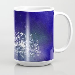 Dino skull – Blue Coffee Mug