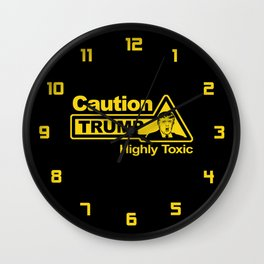 Caution - Trump Wall Clock