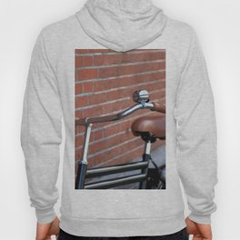 Classic bike and brick wall Hoody