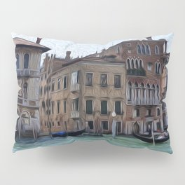 Venice Palazzos on CANALE GRANDE Pillow Sham