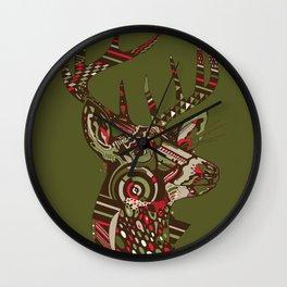 ROAD KILL ~ GREEN Wall Clock