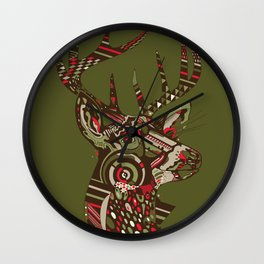 ROAD KILL ~ GREEN Wall Clock