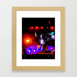 Kings of Leon ELectric Light Show Framed Art Print