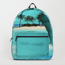 In the ocean in the night Backpack