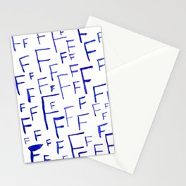 Painted F Stationery Cards