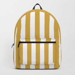 Large Mustard Yellow and White Cabana Tent Stripe Backpack