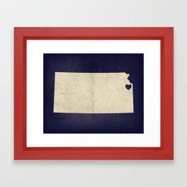 Kansas City, Kansas Love Map Art Framed Art Print
