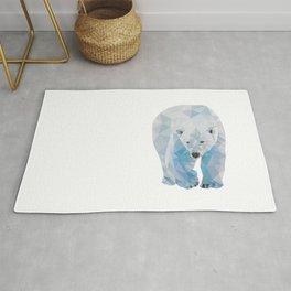 Geometric Polar Bear Rug