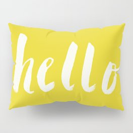 Hello x Sunshine Script Pillow Sham