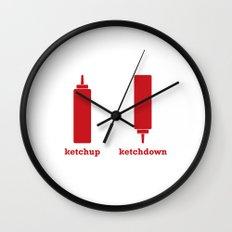Ketchup-Ketchdown Wall Clock