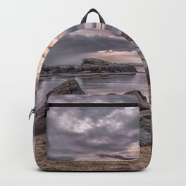 Cloudy beach sunset Backpack