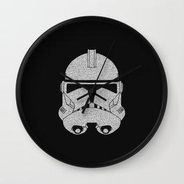Trooper Grey Glittered Wall Clock