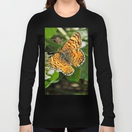 A Mylitta Crescent Butterfly at Rest Long Sleeve T-shirt