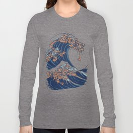 The Great Wave of Dachshunds Langarmshirt