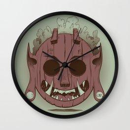 Wooden Djinn Wall Clock