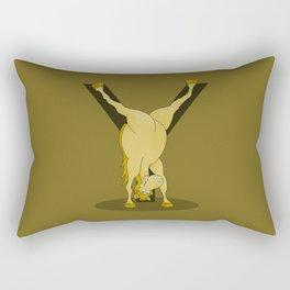 Monogram Y Pony Rectangular Pillow