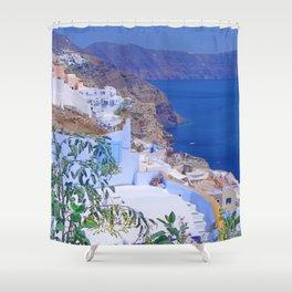Fira, Santorini Shower Curtain