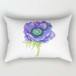 Blue Floral Elements Rectangular Pillow
