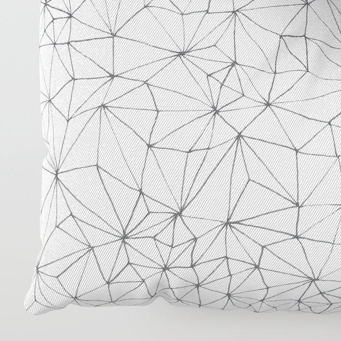 Geometric Line Art Design Floor Pillow
