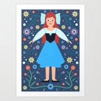 ariel Art Prints featuring Ariel by Carly Watts