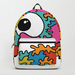Psychedelic eye lick Backpack