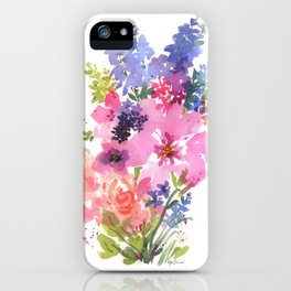 Pink Lavender Peony iPhone Case