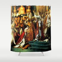 napoleon Shower Curtains featuring Le Sacre De Napoleon  by Chris' Landscape Images & Designs