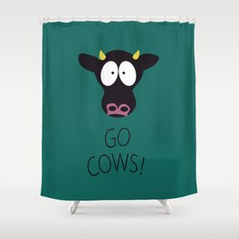 Go Cows Poster Shower Curtain